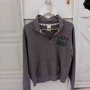 VS PINK half zip sweatshirt! Adorable!